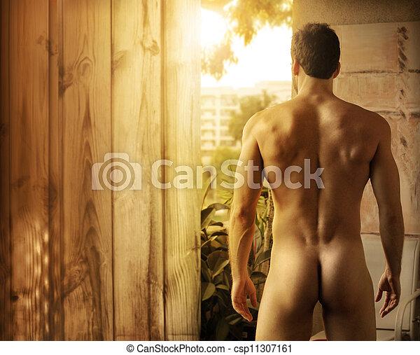 mooi, lichaam, mannelijke  - csp11307161