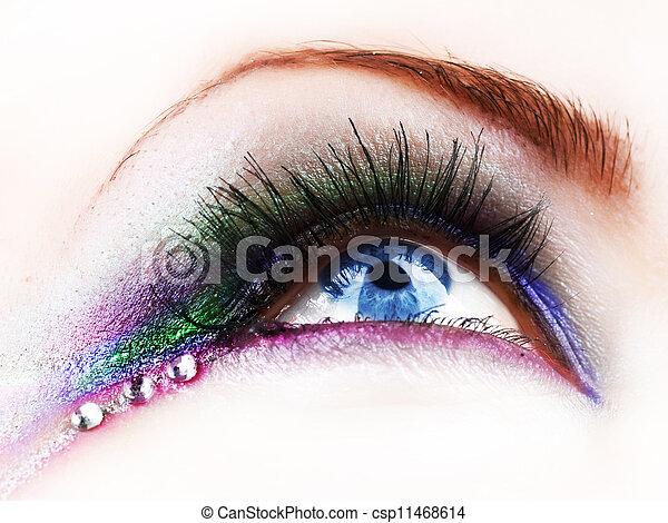 mooi, mode, oog makeup - csp11468614