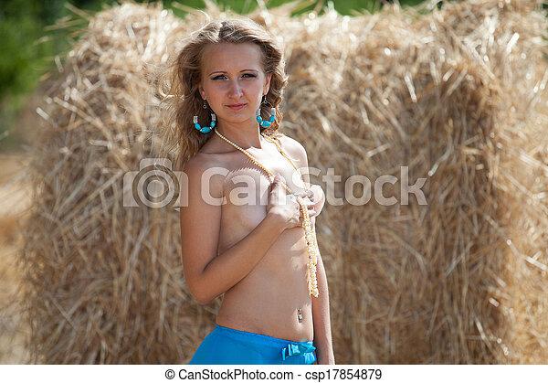Een naakte meisjes