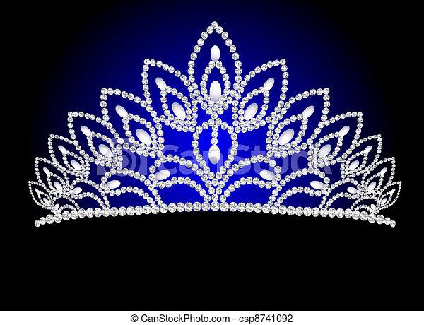 mooi, parel, trouwfeest, diadeem, vrouwelijk - csp8741092
