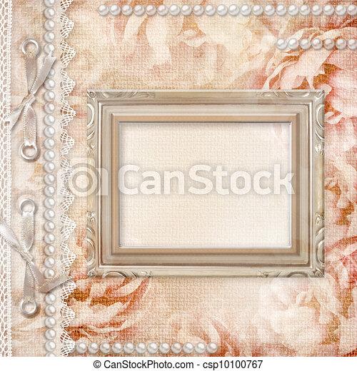 mooi, rozen, album, grunge, dekking - csp10100767