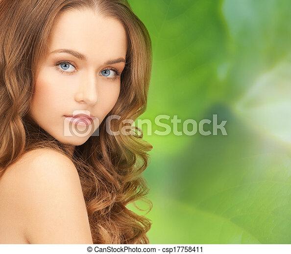 mooi, schouders, vrouw confronteren - csp17758411