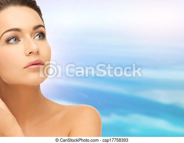 mooi, schouders, vrouw confronteren - csp17758393