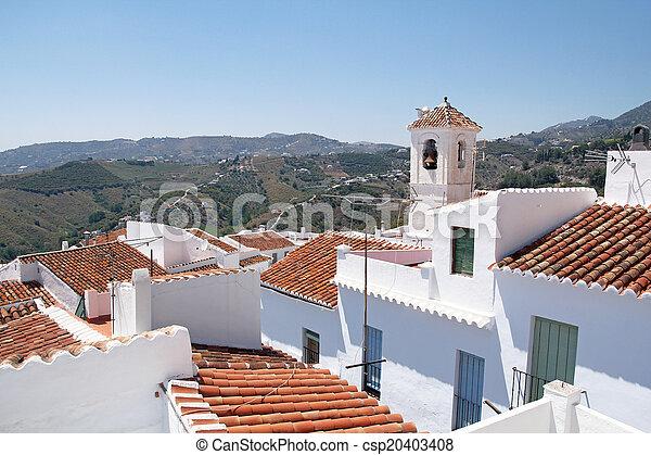 mooi, stad, sol, costa, andalusia, del, witte , frigiliana-, spanje - csp20403408