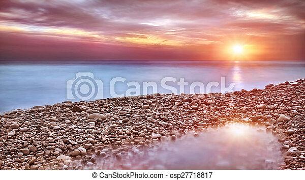 mooi, strand, landscape - csp27718817