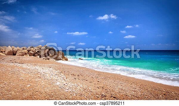 mooi, strand, landscape - csp37895211