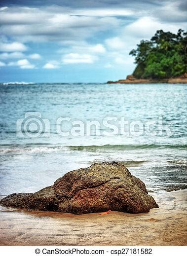 mooi, strand, landscape - csp27181582