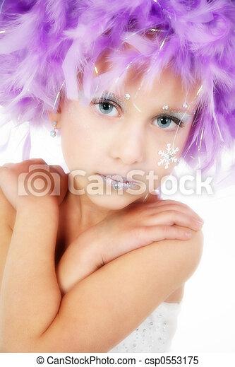 mooi, vijf, oud, prinsesje, jaar - csp0553175