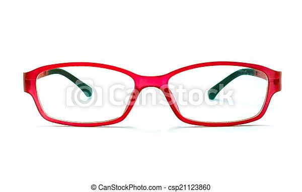 mooi, vrijstaand, bril - csp21123860