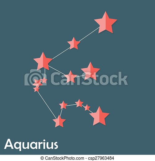 mooi, waterman, meldingsbord, helder, sterretjes, zodiac - csp27963484