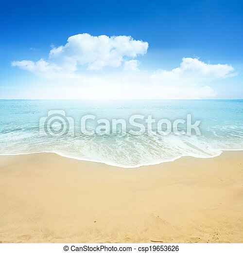 mooi, zomer, strand - csp19653626