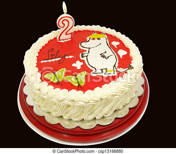 Moomin cake - csp13166880