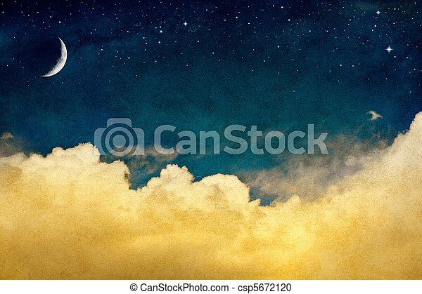 Moon and Cloudscape - csp5672120