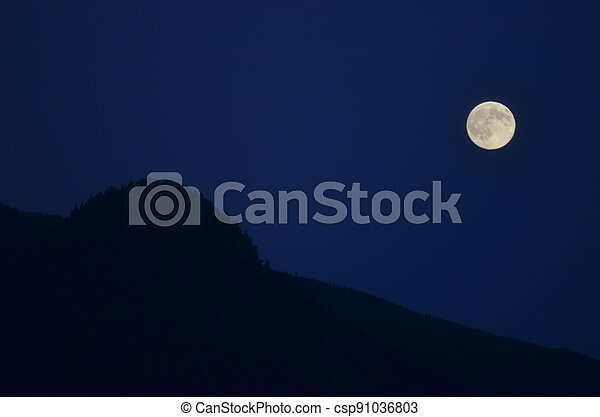 Moon and Mountain - csp91036803