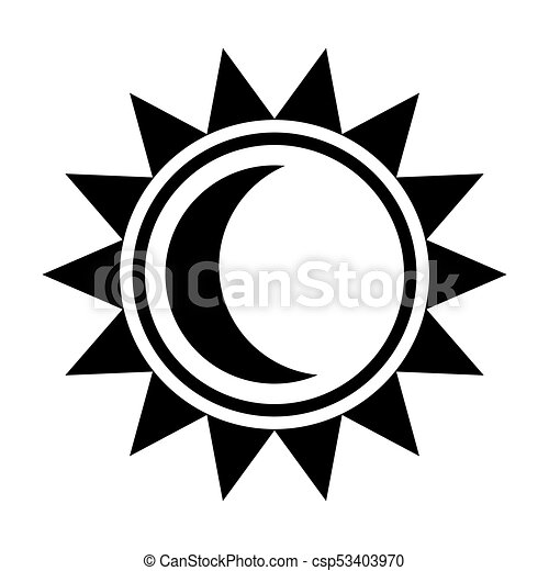 moon and sun icon black sign in flat style isolated on vectors rh canstockphoto com sun flat icon vector sun icon vector free