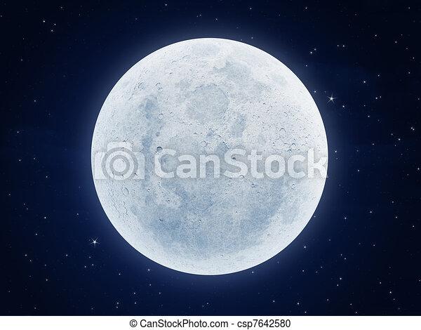 moon at night - csp7642580