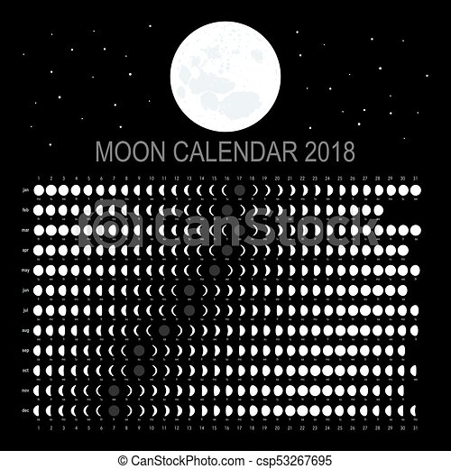 Moon calendar 2018 (english version)