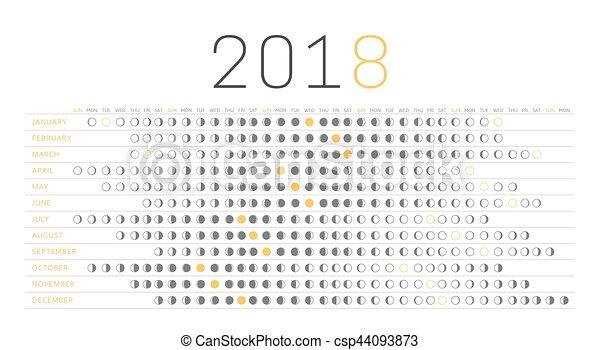 Moon Calendar 2018 Astrological Moon Phases And Lunar Days
