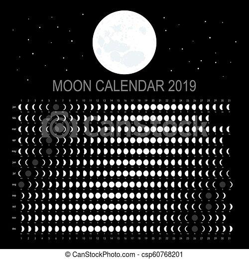 Moon Calendar For 2019 Moon calendar 2019 (english version)