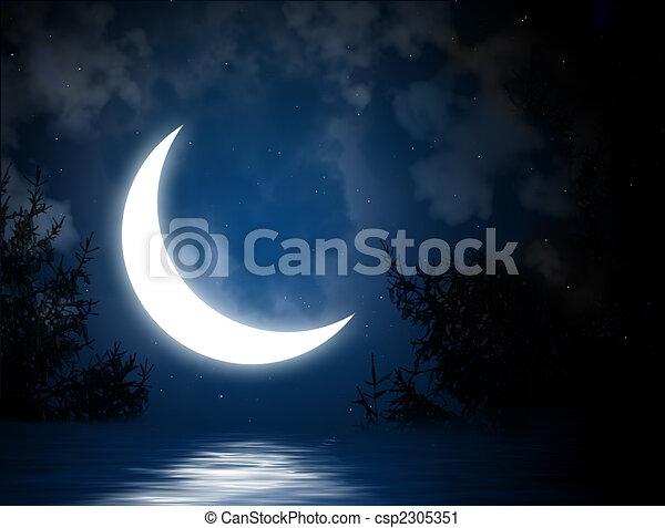 Moon - csp2305351