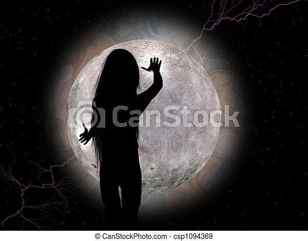 Moon girl. - csp1094369
