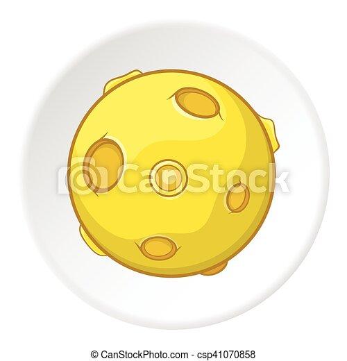 Moon icon, cartoon style - csp41070858