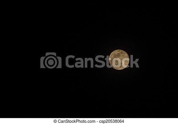 Moon in Rural Uganda - csp20538064