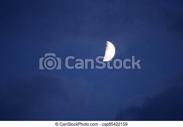 Moon in the evening sky - csp85422159