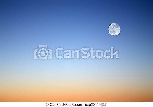 Moon in the evening sky - csp20119838