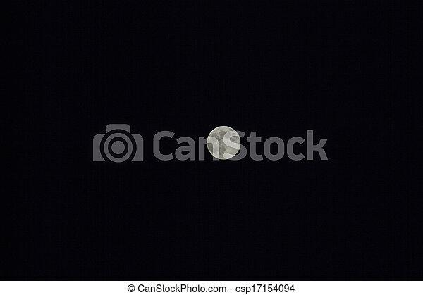 Moon in the night sky - csp17154094