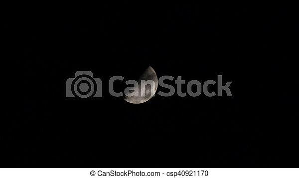 Moon in the sky - csp40921170