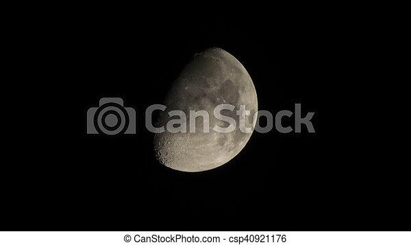 Moon in the sky - csp40921176