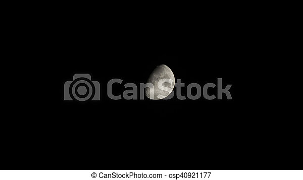 Moon in the sky - csp40921177