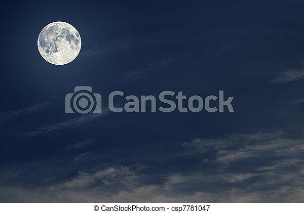 Moon in the sky - csp7781047
