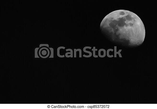 moon in the sky - csp85372072