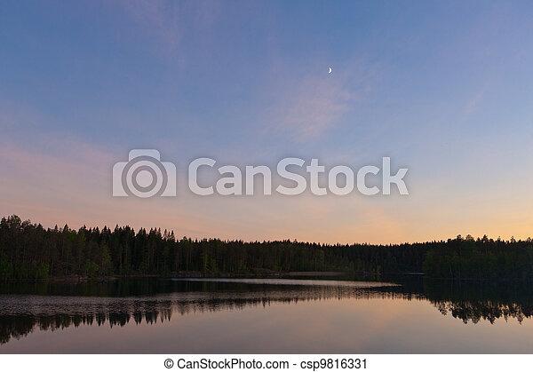 moon in the sky - csp9816331