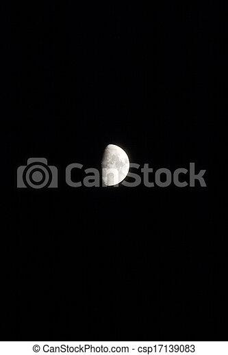 Moon in the sky - csp17139083