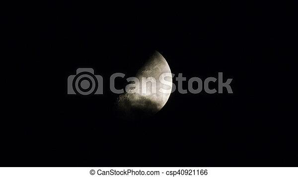 Moon in the sky - csp40921166