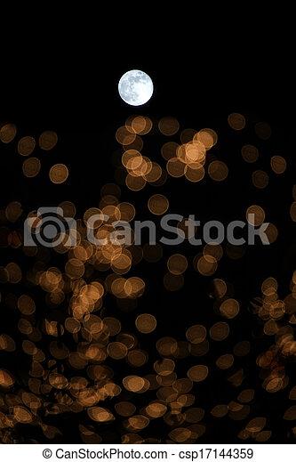 Moon in the sky - csp17144359