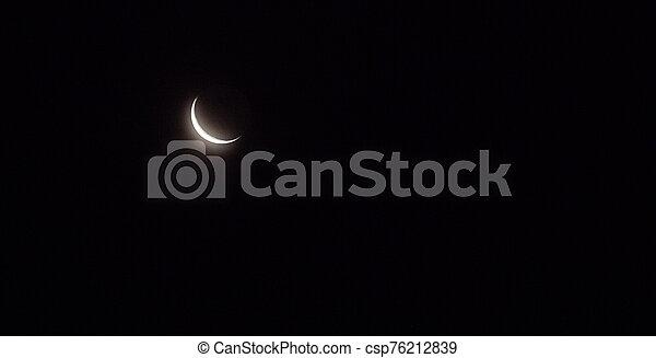 Moon in the sky - csp76212839