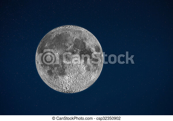 Moon in the sky with star - csp32350902