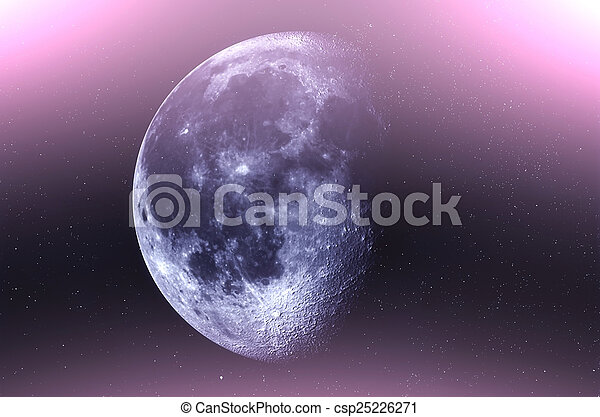 Moon in the sky with stars - csp25226271