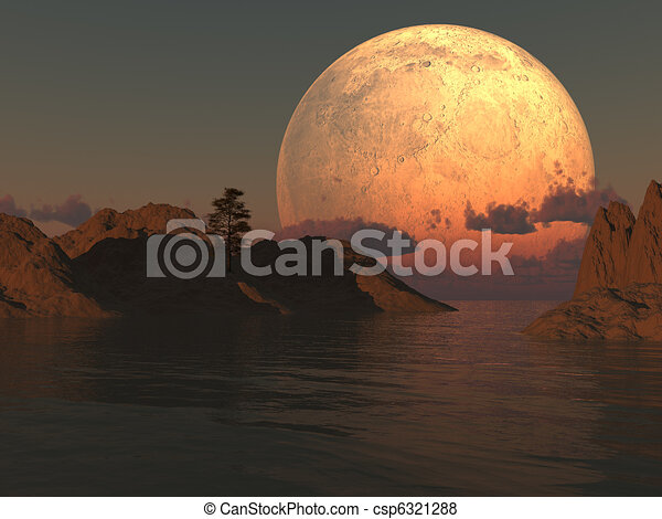 Moon Island Lake - csp6321288