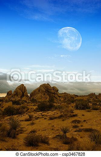 Moon over desert - csp3467828