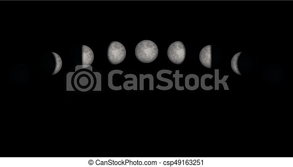 Moon Phases Time Lapse - csp49163251