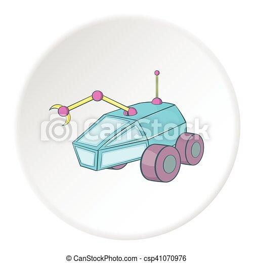 Moon rover icon, cartoon style - csp41070976