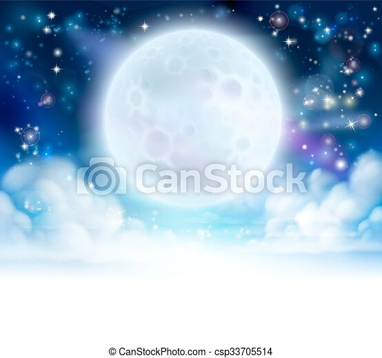 Moon Sky Header Background Moon Night Sky Background With Clouds