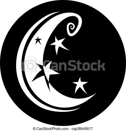 moon symbol - csp38445617