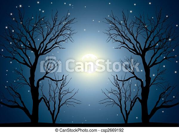 moon trees - csp2669192