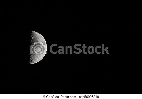 Moon Waxing Landscape with Copy Space - csp56998310